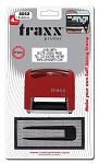 DIY Rubber Stamp KIT - Traxx 8052 - 4 Lines 18x48mm BLACK
