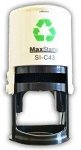 MaxStamp SI-C43 Self Inking Stamp 41mm Maxum C43