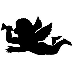 CHERUB Rubber Stamp 50x38mm RS13 Traditional Style