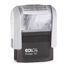 colop printer 10 custom self inking stamp 25x8mm cp10