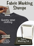 Fabric / Clothes Marking Stamp Kit - Name Stamp  and Ink Pad