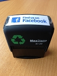 Find us on Facebook Stamp Self Inking Stamp 46x16mm Maxum SI-20 Social Media
