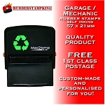 Garage Mechanics Stamp - Self Inking - Not Manual - Great Service 57x21mm