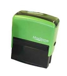 MaxStamp E4 Eco Friendly Self Inking Stamp 73x35mm Maxum SI-40 100% Recycled