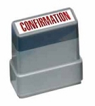CONFIRMATION - Red - Ready Made Rubber Stamp MaxStamp MS14