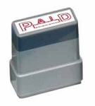 PAID - Red - Ready Made Rubber Stamp MaxStamp MS05