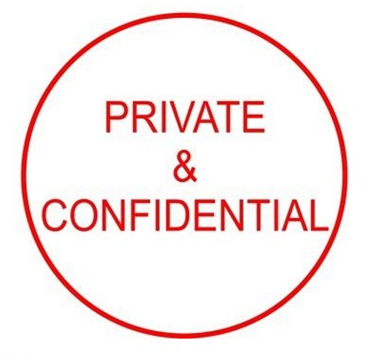home mechanic garage ideas - Private & Confidential 15mm Rubber Stamp MaxStamp SI C17