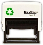 MaxStamp 13 Self Inking Stamp 52x13mm Maxum SI-13 - 1.3 - 4 Lines