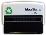 MaxStamp Cheque Self Inking Stamp 69x9mm Maxum SI-15  BLACK Ink