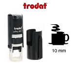 Coffee Cup Loyalty Card Stamp 10mm Round Self Inking Trodat 4612 6/4612