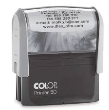 Colop Printer 50 Custom Self Inking Stamp 67x28mm CP50