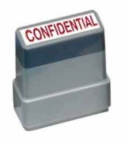 CONFIDENTIAL - Red - Ready Made Rubber Stamp MaxStamp MS02