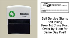 Service History Stamp for DIY Mechanics - SELF SERVICED etc 57x21mm CAR IMAGE