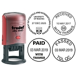 Trodat 46140 Date Stamp Self Inking 38mm Round