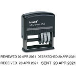 Trodat 4813 Date Stamp Self Inking 24x8mm Rectangle Dater