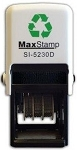 MaxStamp 5230/D 38x38mm Custom Date Stamp Self Inking Maxum SI-5230D