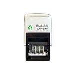 MaxStamp 5230/D/2 38x38mm Two Colour Custom Date Stamp Self Inking Maxum SI-5230D/2