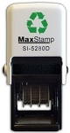 MaxStamp 5280/D/2 28x28mm Two Colour Custom Date Stamp Self Inking Maxum SI-5280D/2