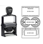 Trodat 5460 Date Stamp Self Inking 56x33mm Rectangle Heavy Duty