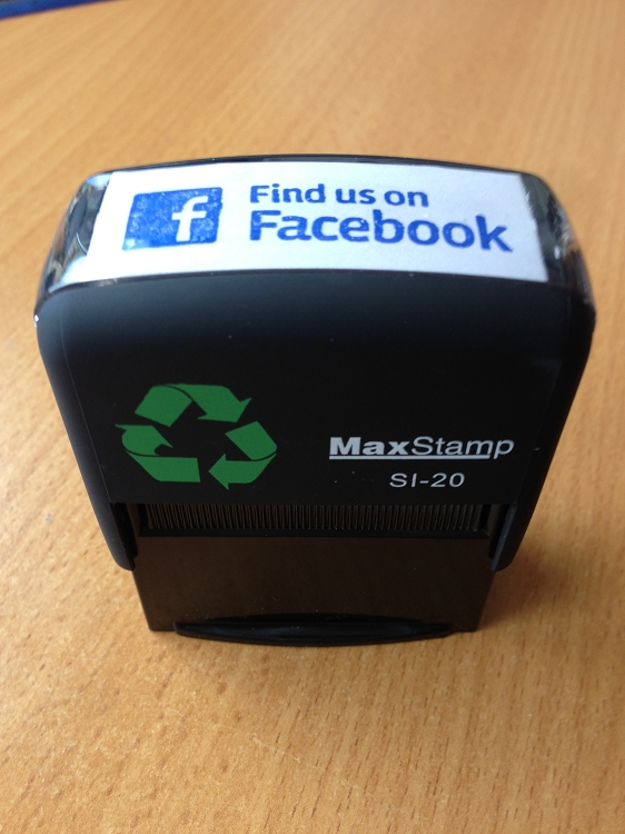 Facebook Rubber Stamp