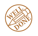 Teacher Stamp WELL DONE Self Inking Stamp 18X18mm MaxStamp SI-5210