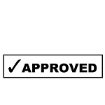 Approved Stamp - 46x16mm - Self Inking - Ready Made - Max 2