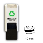 BEEF BURGER Loyalty Card Stamp 10mm Square Self Inking Maxum SI-5205