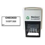 CHECKED Self Inking Date Stamp - MaxStamp 5260 Date Stamp 41X21mm