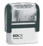 Colop Printer 30 Custom Self Inking Stamp 45x16mm CP30