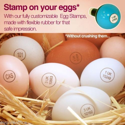 Egg Marking Rubber Stamp Custom Made With Your Producer Number Or Logo