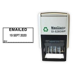 EMAILED Self Inking Date Stamp - MaxStamp 5260 Date Stamp 41X21mm
