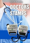 NHS Doctor / Nurses Stamp 28x6mm 2 Lines Max - Key Ring and Lanyard Fitted