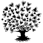 TREE LOVE Rubber Stamp 50X50mm RS18 Traditional Style
