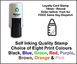 Baby Bottle Loyalty Card Stamp 10mm Round C12 Self Inking Maxum SI-C12