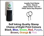 Balloons Loyalty Card Stamp 10mm Round C12 Self Inking Maxum SI-C12
