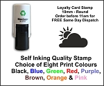 Cloud & Sun Loyalty Card Stamp 10mm Round C12 Self Inking Maxum SI-C12