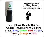 Droplets Loyalty Card Stamp 10mm Round C12 Self Inking Maxum SI-C12