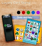 Custom Loyalty Card Stamp18x18mm Square 5210 Self Inking Maxum SI-5210