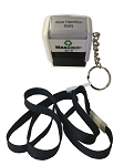 MaxStamp SI-0 Nurses / Doctor / NHS Self Inking Stamp 23x8mm 3 Lines  Lanyard