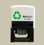MaxStamp 5/D/2 58x38mm Two Colour Custom Date Stamp Self Inking Maxum SI-50D/2