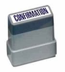 CONFIRMATION - Blue - Ready Made Rubber Stamp MaxStamp MS13