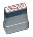 ENTERED - Red - Ready Made Rubber Stamp MaxStamp MS17