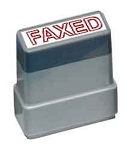 FAXED - Red - Ready Made Rubber Stamp MaxStamp MS18
