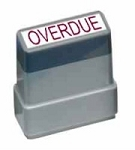 OVERDUE - Red - Ready Made Rubber Stamp MaxStamp MS20