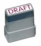 DRAFT - Red - Ready Made Rubber Stamp MaxStamp MS23