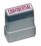 CONFIDENTIAL - Red - Ready Made Rubber Stamp MaxStamp MS27