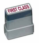 FIRST CLASS MAIL - Red - Ready Made Rubber Stamp MaxStamp MS31