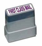 FIRST CLASS MAIL - Blue - Ready Made Rubber Stamp MaxStamp MS32