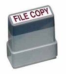 FILE COPY - Red - Ready Made Rubber Stamp MaxStamp MS08