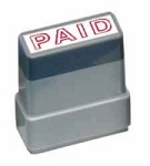 PAID - Blue - Ready Made Rubber Stamp MaxStamp MS09